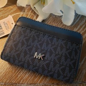 NWT Michael Kors Monogram Coin Card Case